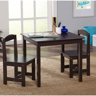 Simple Living Espresso 3 piece Hayden Kids Table and Chair Set. Wood Kids  Table   Chair Sets For Less   Overstock com