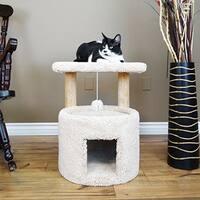 New Cat Condos Premier Wood/Carpet 24-inch Cat Sleeper
