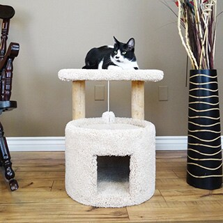 New Cat Condos Premier Wood/Carpet 24-inch Cat Sleeper