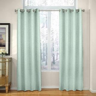 Grand Luxe Madison Linen Chenille Grommet Top Curtain Panel