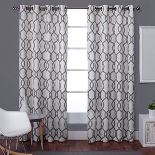 Kochi Linen Blend Grommet-top 84-inch Curtain Panel Pair