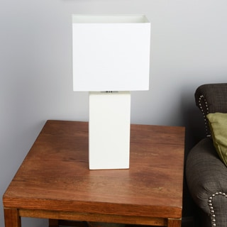 Elegant Designs Monaco Avenue Modern Leather 1-Light Table Lamp
