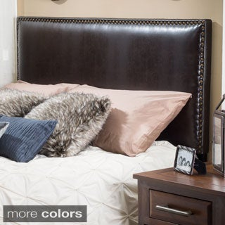 Hilton Adjustable King/ California King Bonded Leather King Headboard by Christopher Knight Home