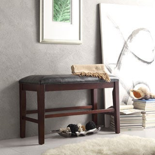 TRIBECCA HOME Colyton Black Brown Counter Height Bench