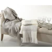 Faux Mohair Woven Throw Blanket
