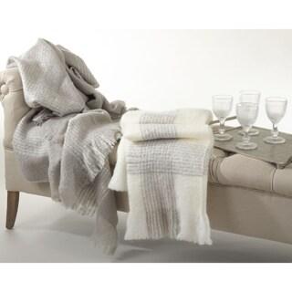 Faux Mohair Woven Throw Blanket