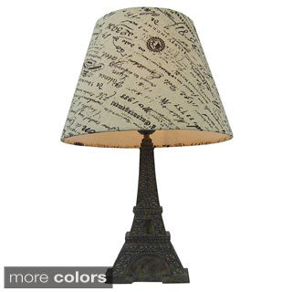 Simple Designs Paris Eiffel Tower Lamp and Printed Shade