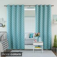 Aurora Home Plus Print Room Darkening Grommet Curtain Panel Pair