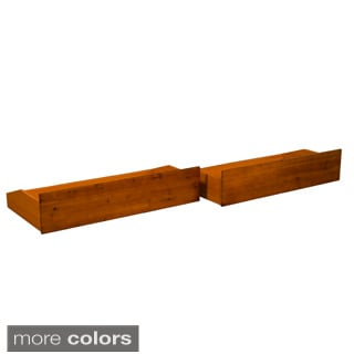 All Wood Storage Drawer Pair Fits Underneath Full and Queen-size Futon Frames and Twin, Full, Queen,