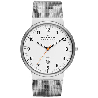 SKAGEN Klassik Mens SKW6025 Three-Hand Date Stainless Steel Watch - WHITE