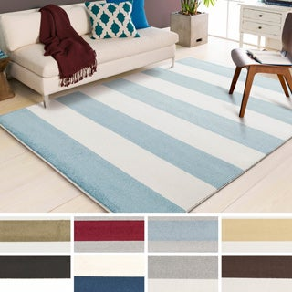 Meticulously Woven Cajon Casual Striped Area Rug (3'3 x 5')