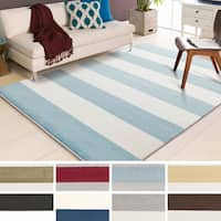 Havenside Home Goodland Woven Casual Striped Area Rug