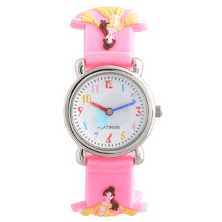 Geneva Platinum Girl's Princess Design Silicone Watch