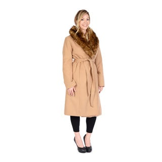 EXcelled Women's Belted Full-length Swing Coat
