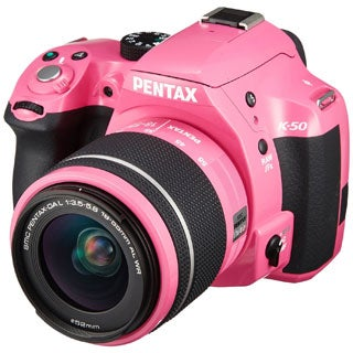 Pentax K50 16MP Pink Camera with 18-55 3.5-5.6 Dal Lens