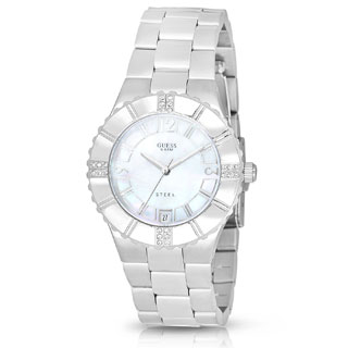 Guess Women's I90192L1 Crystal Stainless Steel Watch