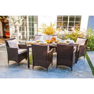 angelo:HOME Napa Estate Sandy Brown Indoor/ Outdoor Rectangular 7-piece Dining Set