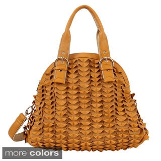 Mellow World 'Sybil' Textured Folds Shoulder Bag