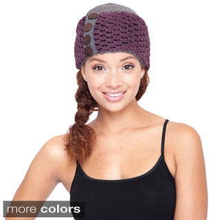 Cute Hand-knit Hat with Buttons (Nepal)