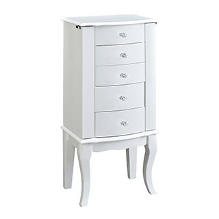 Powell Penelope White Jewelry Armoire