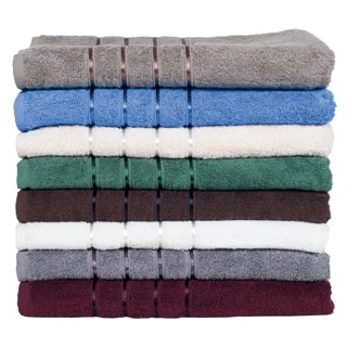 Lavish Home 100-percent Cotton 650 GSM 8-piece Towel Set