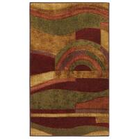 Pine Canopy Badlands New Wave Picasso Abstract Wine Area Rug - 2' x 5'
