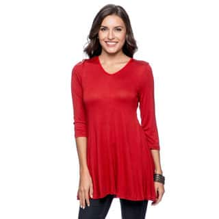 24/7 Comfort Apparel Women's V-neck Tunic (S - 6X) (Option: S)|https://ak1.ostkcdn.com/images/products/P16647550jt.jpg?impolicy=medium
