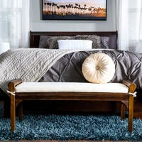 Nelson Wood Bench with Cushion by Christopher Knight Home