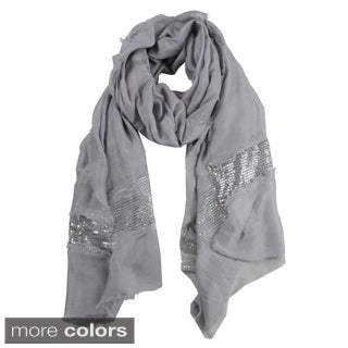 Le Nom Sequin Border Soft Scarf