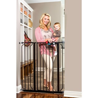 Regalo Deluxe Easy Step Extra-Tall Black Gate