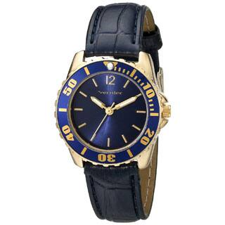 Vernier Women's Genuine Leather Blue Embossed Diver Watch|https://ak1.ostkcdn.com/images/products/P16650056jt.jpg?impolicy=medium