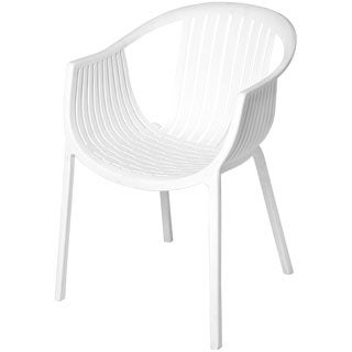 Rowan White Stackable Accent Chair (Set of 2)