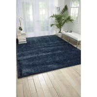 Nourison Escape Navy Shag Area Rug (7'10 x 9'10)