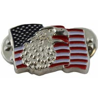 The Bald Eagle and The American Flag Patriotic Pin