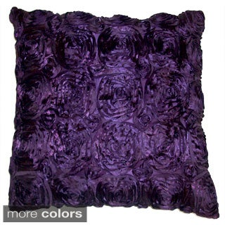 Silk Roses Feather Filled Throw Pillow