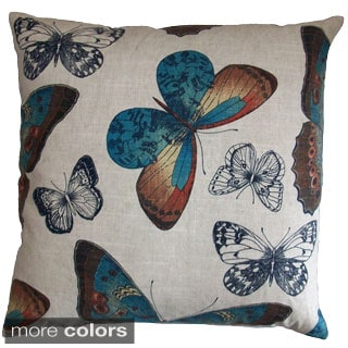 Madame Butterfly Feather Filled Throw Pillow