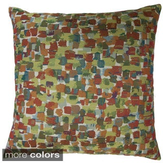 Expressionist Feather Filled Throw Pillow