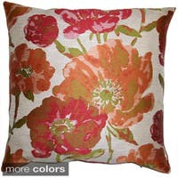 Lauren Floral Feather Filled Throw Pillow