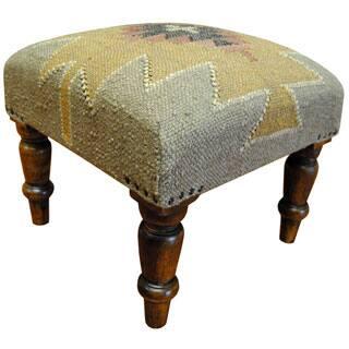 Herat Oriental Handmade Indo Kilim Upholstered Footstool|https://ak1.ostkcdn.com/images/products/P16671603jt.jpg?impolicy=medium