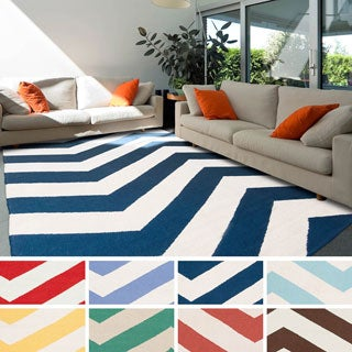 Cruces Flatweave Chevron Area Rug (3'6 x 5'6)