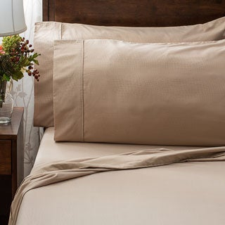 Superior Embossed Wrinkle-resistant Crocodile Print Sheet Set