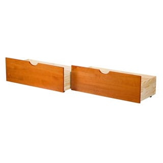 Palace Imports Set of 2 Solid Wood Underbed Drawers On Wheels