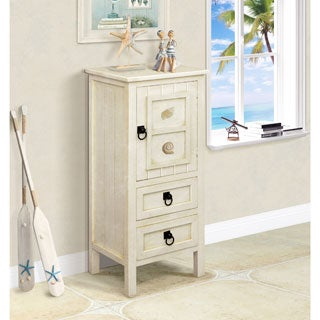 Gallerie Decor Antique White Coastal Chest