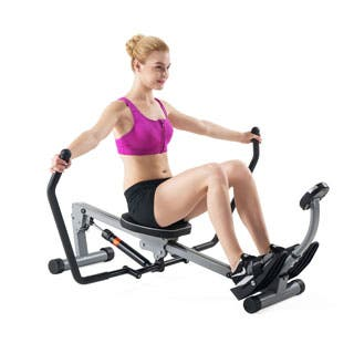 Sunny Health & Fitness SF-RW1410 Rowing Machine Rower with Full Motion Arms and LCD Monitor|https://ak1.ostkcdn.com/images/products/P16685530a.jpg?impolicy=medium