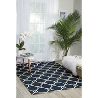 Waverly Color Motion Ferris Wheel Navy Area Rug by Nourison (2'3 x 3'9)