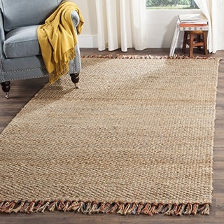 Safavieh Casual Natural Fiber Hand-Woven Natural / Multi Jute Rug (8' x 10')
