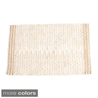 Jute Design Table Runner (set of 1) or Placemats (set of 4) (3 options available)