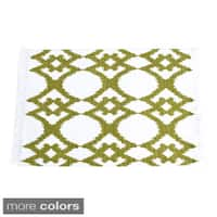 Ikat Ribbed Design Table Runner (set of 1) or Placemats (set of 4)