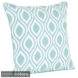 Printed Teardrop Design Down Filled Throw Pillow