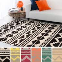 Hand-woven Leganes Flatweave Southwestern Wool Area Rug (3'6 x 5'6)